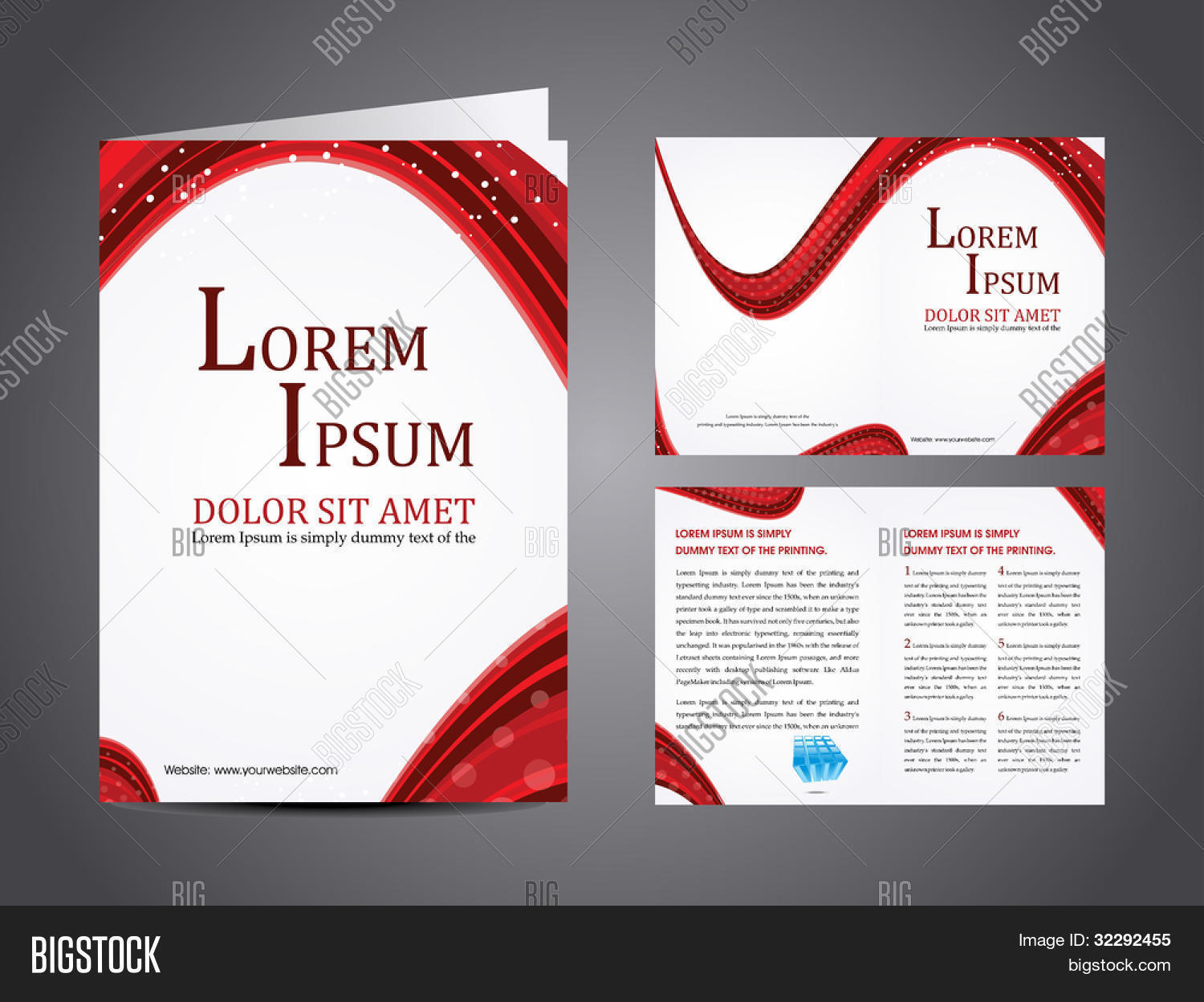 Professional business vector photo free trial bigstock professional business catalog template or corporate brochure design with inner pages for document publishing accmission Image collections