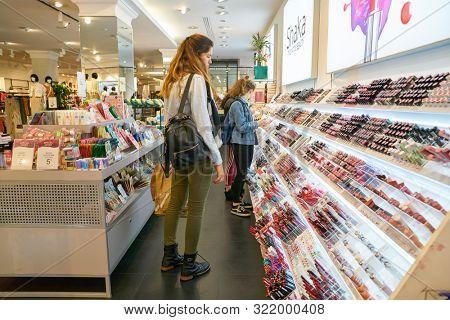 VERONA, ITALY - CIRCA MAY, 2019: interior shot of OVS store in Verona.