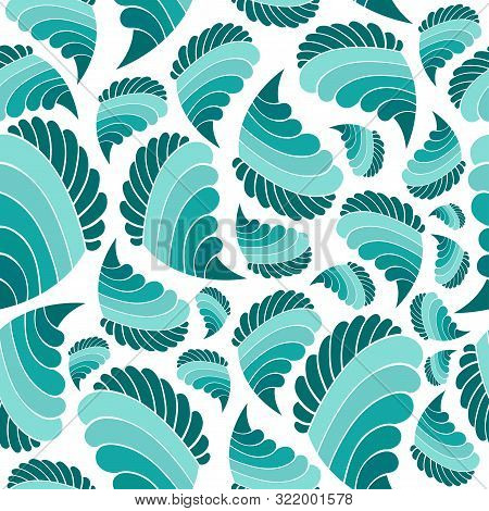 Abstract Background With Patterns Similar To Candies Or Cookies. Bright Appetizing Sweets On A Blue