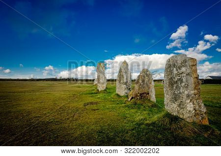 The alignment of Lagatjar is an interesting alignment of menhir in France, near Camaret sur mer, Brittany. The megalithic alignment consists of three rows of menhirs