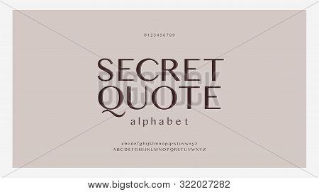Elegant Alphabet Letters Font Set. Classic Custom Lettering Designs For Logo, Poster. Typography Fon