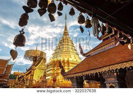 Wat Phra That Doi Suthep Is Tourist Attraction Temple In Of Chiang Mai.