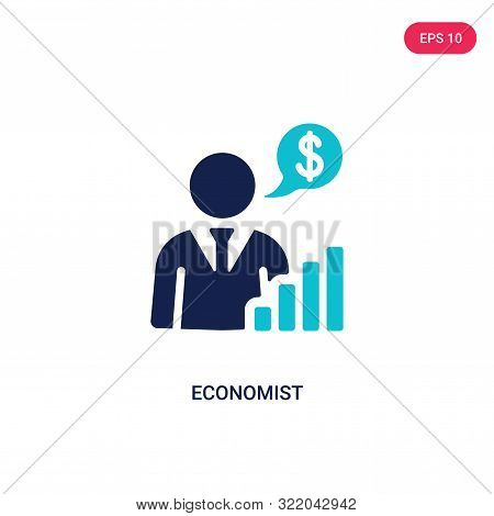 economist icon in two color design style.