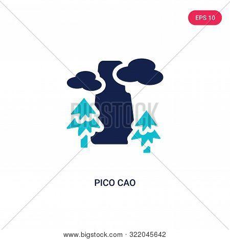 pico cao icon in two color design style.