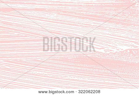 Grunge Texture. Distress Pink Rough Trace. Glamorous Background. Noise Dirty Grunge Texture. Uncommo