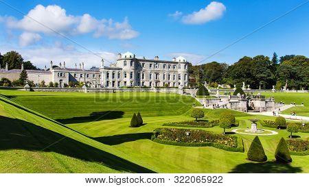Wicklow, Ireland, September 2014 Tourists Visiting Powerscourt Gardens One Of The Most Beautiful Gar
