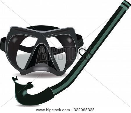Black Sport Diving Mask With Tankard Black Sport Diving Mask With Tankard