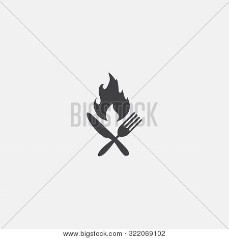 Calories Base Icon. Simple Sign Illustration. Calories Symbol Design. Can Be Used For Web, And Mobil