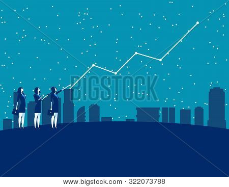 Business People And Forecasting Future Profits. Concept Business Vector Illustration. Forecaster, Fi