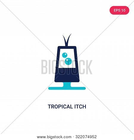 tropical itch icon in two color design style.