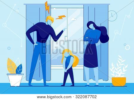 Father Scold Daughter At Home For Bad Behaviour, Family Problems, Complicated Relationship With Chil