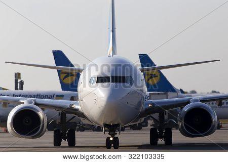 Borispol, Ukraine - September 10, 2019: Ur-psz Ukraine International Airlines Boeing 737-800 Aircraf