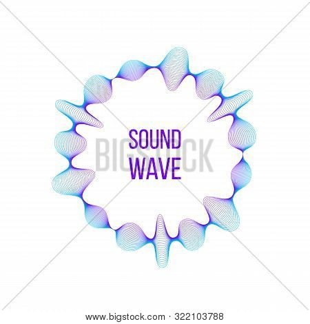 Vector Music Sound Amplitude Waves Set Of Neon Vector Illustrations Isolated.