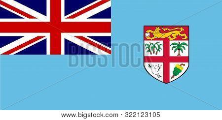 The Blue Ensign National Flag Of Fiji