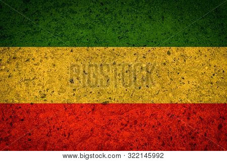 Green Yellow Red Reggae Background On Concrete Wall Texture