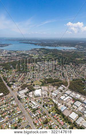 Lake Macquarie Aerial View - Nsw Australia