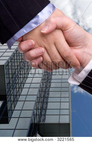 Female Business Handshake
