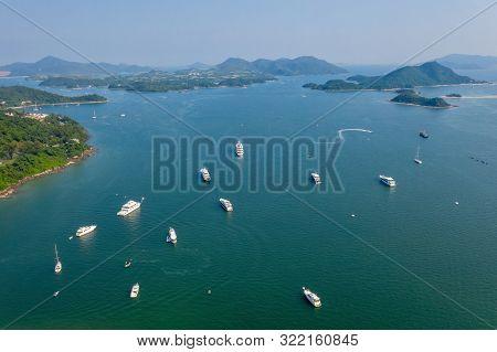 Aerial View Of Sai Kung, Hong Kong From Sky