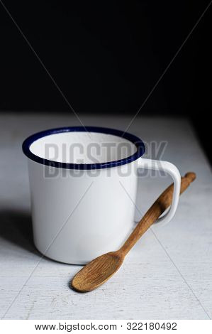 White Cup Of Coffee On White Table