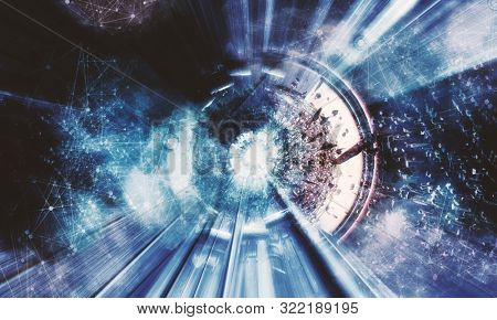 3D rendering of abstract technology digital hi tech concept ready for banner background