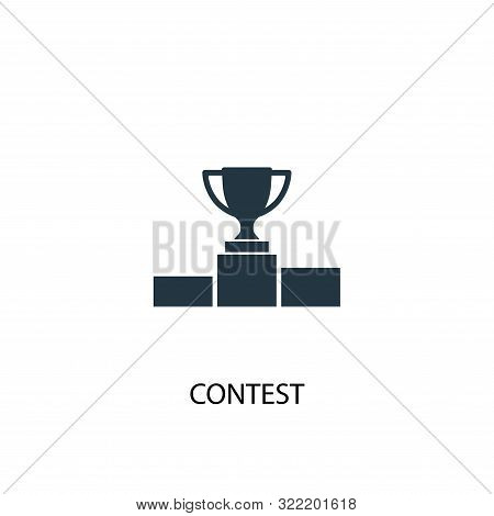 Contest Icon. Simple Element Illustration. Contest Concept Symbol Design. Can Be Used For Web