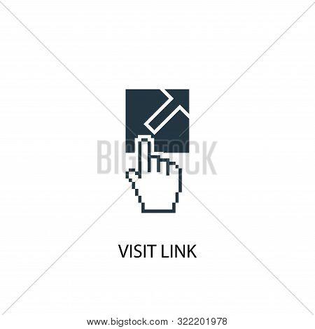 Visit Link Icon. Simple Element Illustration. Visit Link Concept Symbol Design. Can Be Used For Web