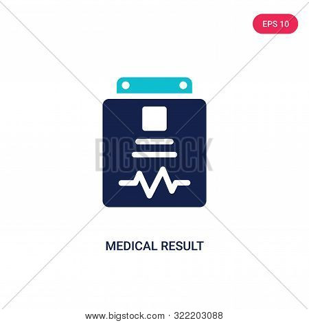 medical result icon in two color design style.
