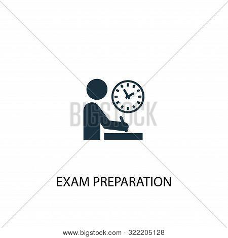 Exam Preparation Icon. Simple Element Illustration. Exam Preparation Concept Symbol Design. Can Be U