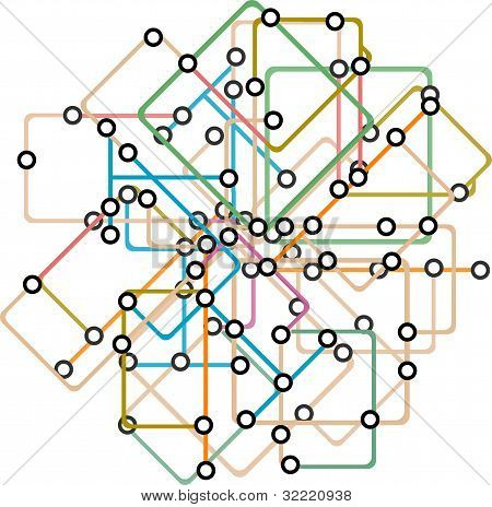 Abstract Background Of A Subway Map