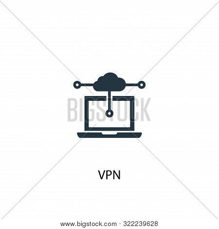 Vpn Icon. Simple Element Illustration. Vpn Concept Symbol Design. Can Be Used For Web