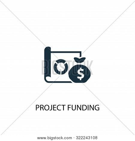 Project Funding Icon. Simple Element Illustration. Project Funding Concept Symbol Design. Can Be Use