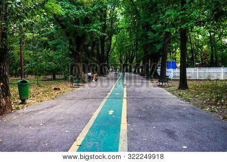 People Having Fun In King Mihai I Park (herastrau Park) In Bucharest, Romania, 2019.