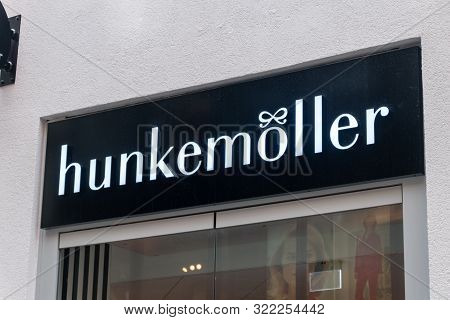 Hanover, Germany - June 8, 2019: Logo And Sign Of Hunkemoller. Hunkemoller Is A Clothing Manufacture