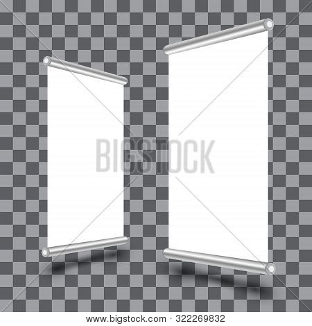 Blank Roll Banner Vector Photo Free Trial Bigstock