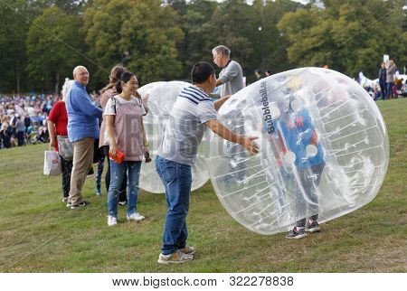 Stockholm - Sept 08, 2019: Lots Of Activities For Kids At Generation Pep Day In Hagaparken To Encour