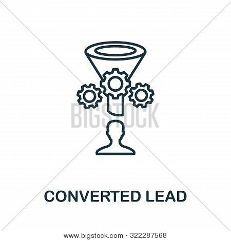 Converted Lead Outline Icon. Thin Line Concept Element From Crm Icons Collection. Creative Converted
