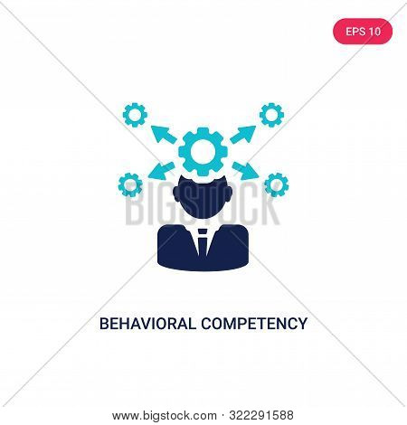 behavioral competency icon in two color design style.