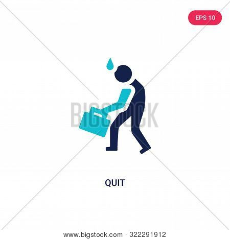 quit icon in two color design style.