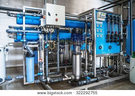 System Of Automatic Treatment And Multi-level Filtration Of Drinking Water Produced From Well. Plant
