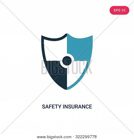 safety insurance icon in two color design style.