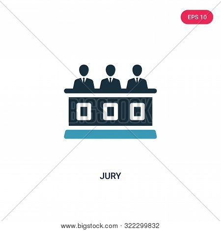 jury icon in two color design style.