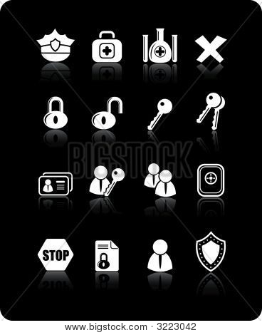 Security And Antivirus Vector Icons