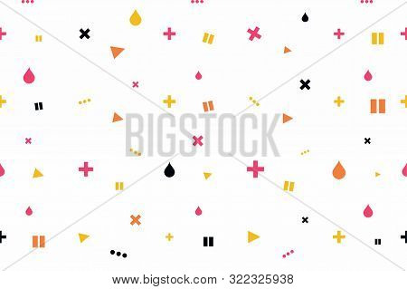 Abstract Minimalistic Background. Modern Seamless Background With Minimalistic Icons. Background For