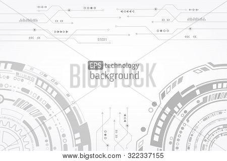 Hi-tech Computer Digital Technology Concept. Abstract Technology Communication Vector Illustration.