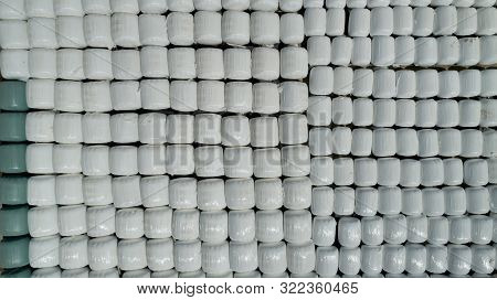 Storage Of Corn Bagasse For Animals; Stock For Livestock