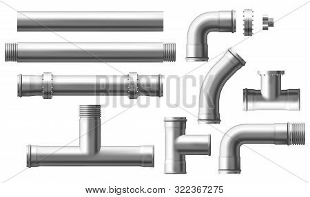 Stainless Steel, Metallic Pipes, Plumbing Fittings. Water, Fuel Or Gas Supply System, Oil Refinery I