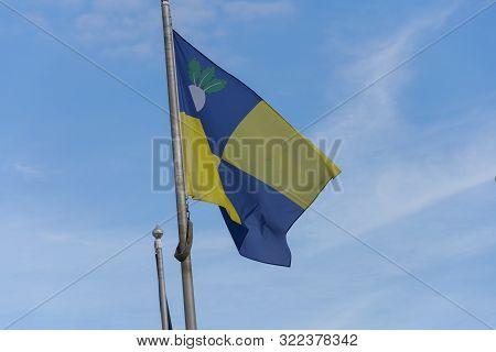 The Flag Of The East Flemish Village Of Sint Gillis Waas, Belgium