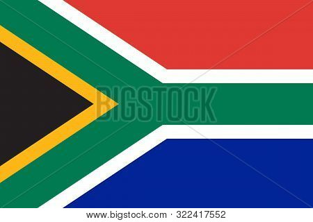 Flag South Africa Or South African National Flag Vector - Sticker,label,banner,poster Etc.