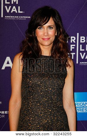 NEW YORK, NY - APRIL 21: Actress Kristin Wiig attends the premiere of