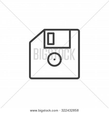 Floppy Disk Line Icon. Linear Style Sign For Mobile Concept And Web Design. Diskette, Floppy Drive O